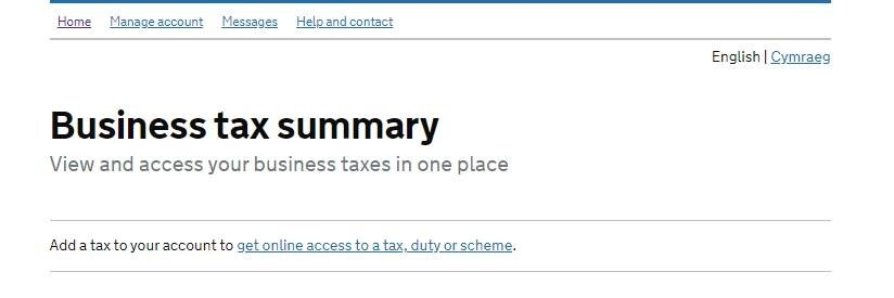 Business Tax Summary
