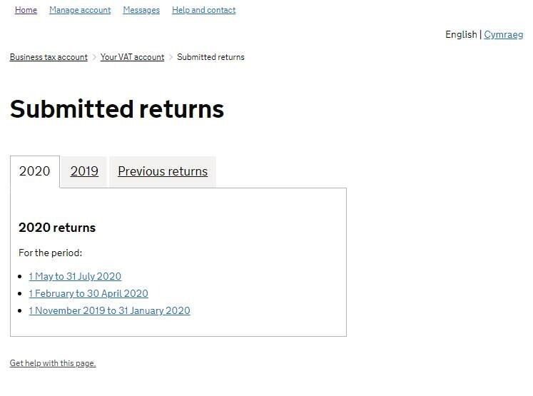 Submitted Returns