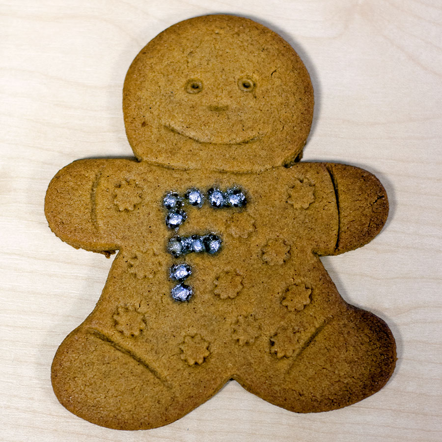 Mum-to-be Kristina Lewis baked up delicious Fleximize gingerbread snacks.