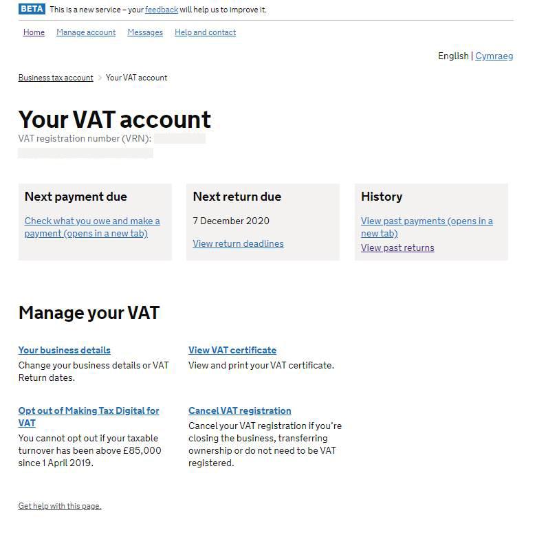 Your VAT Account