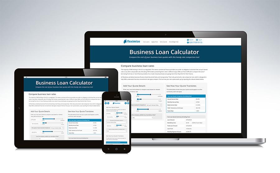 Fleximize's business loan calculator